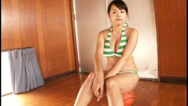 【篠崎愛】バスケで爆乳が揺れる❤特にボールの上に乗った変形おっぱいがエロい‼